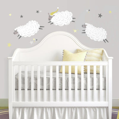 Counting Sheep Peel and Stick Wall Decals roomset