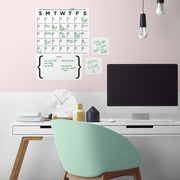 Dry Erase Calendar Peel and Stick Wall Decal Set roomset