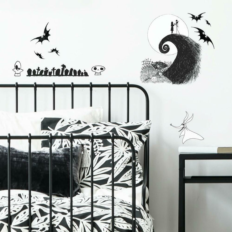 Disney The Nightmare Before Christmas Jack and Sally Peel and Stick Wall Decals roomset