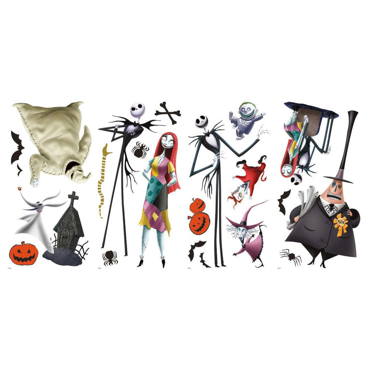 The Nightmare Before Christmas Peel and Stick Wall Decals sheet