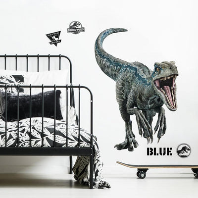 Jurassic World: Fallen Kingdom Blue Velociraptor Giant Wall Decal roomset