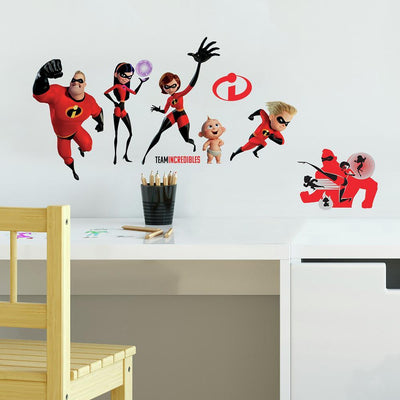 Disney Pixar Incredibles 2 Peel and Stick Wall Decals roomset