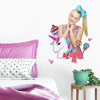 JoJo Siwa Unicorn Dream Peel and Stick Giant Wall Decals roomset