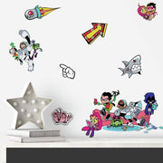 Teen Titans GO! Peel and Stick Wall Decals roomset 2
