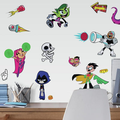 Teen Titans GO! Peel and Stick Wall Decals roomset