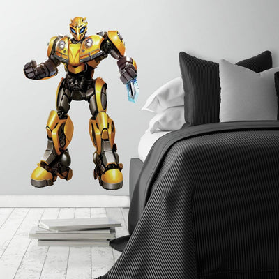 Transformers Bumblebee Peel and Stick Giant Wall Decal roomset