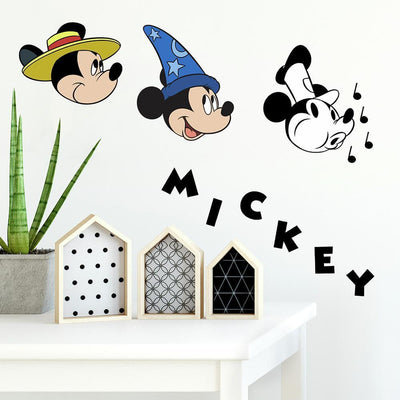 Disney Mickey Mouse Classic 90th Anniversary Peel and Stick Wall Decals roomset