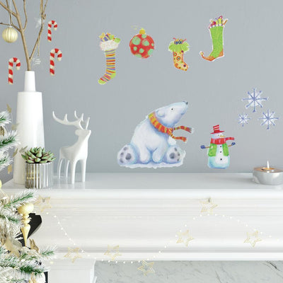 Polar Christmas Peel and Stick Wall Decals roomset
