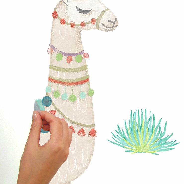Watercolor Llama Peel and Stick Giant Wall Decals peel