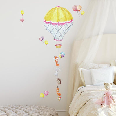 Hot Air Balloon Pals Peel and Stick Giant Wall Decals roomset