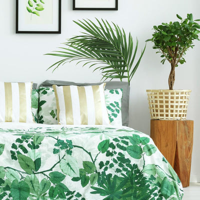 Green Palm Peel and Stick Giant Wall Decals roomset