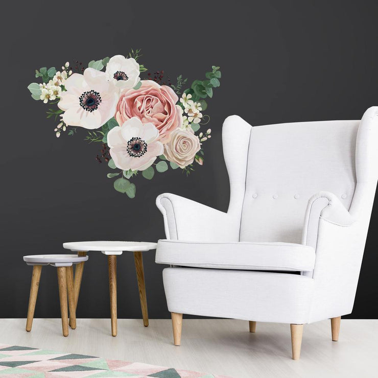 Fresh Floral Giant Peel and Stick Giant Wall Decals roomset