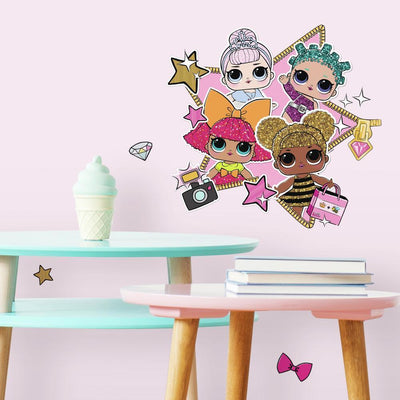 LOL Surprise! Peel and Stick Giant Wall Decals roomset
