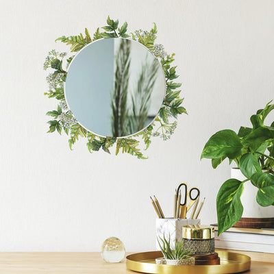 Fern Wall Decals with Circle Mirror roomset