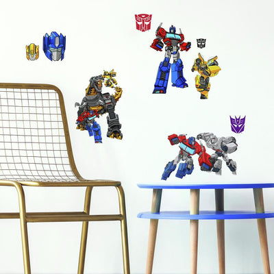 Transformers Cyberverse Peel and Stick Wall Decals roomset
