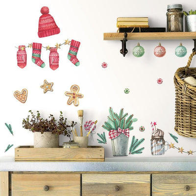 Classic Christmas Peel and Stick Wall Decals roomset