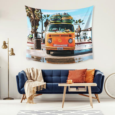 Surf Van Large Tapestry roomset