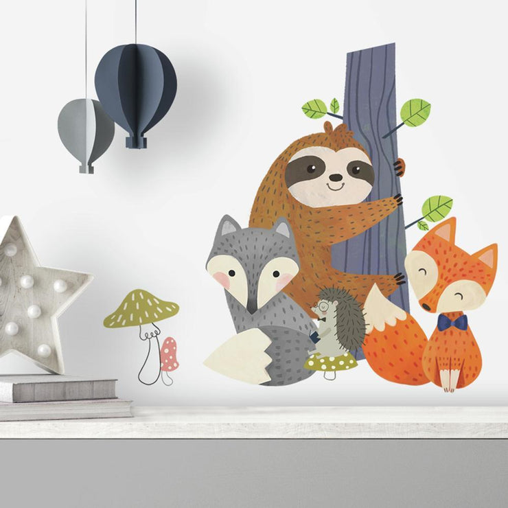 Forest Friends Giant Wall Decals roomset