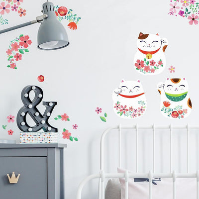 Lucky Cat Wall Decals roomset