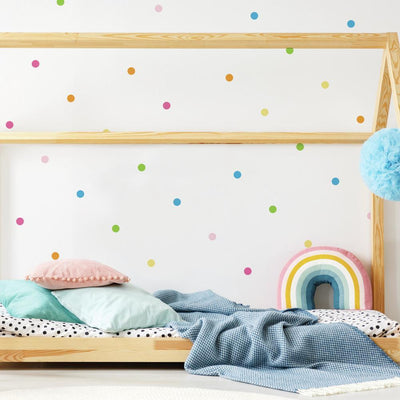 Pastel Dot Peel and Stick Wall Decals roomset
