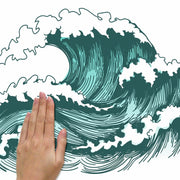 Great Wave Peel and Stick Giant Wall Decals place