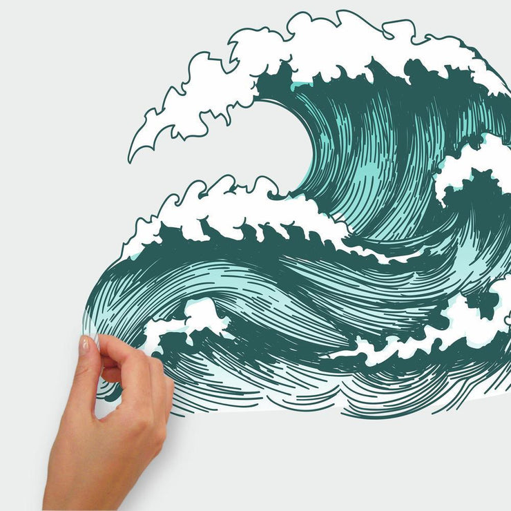 Great Wave Peel and Stick Giant Wall Decals peel