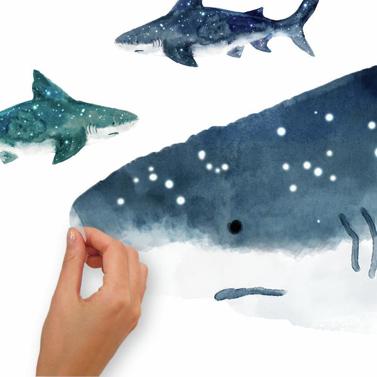 Shark Peel and Stick Giant Wall Decals peel
