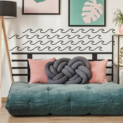 Simplistic Waves Peel and Stick Wall Decals roomset