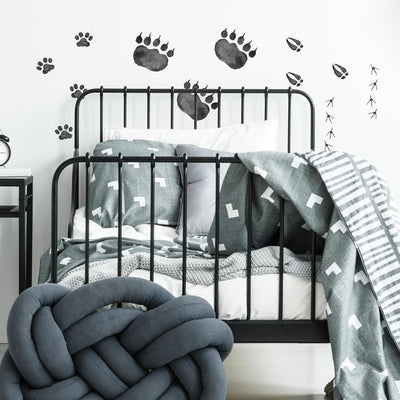 Animal Tracks Peel and Stick Wall Decals roomset 2