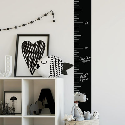 Growth Chart Chalk Ruler Peel and Stick Giant Wall Decals roomset