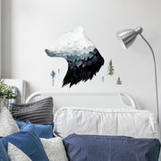 Watercolor Mountain Bear Peel and Stick Giant Wall Decal roomset 2