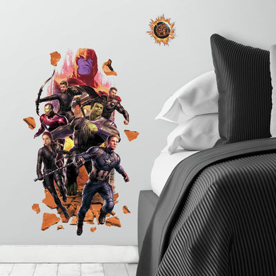 Avengers Endgame Peel and Stick Giant Wall Decals roomset