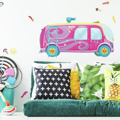 Sunny Day Bus Peel and Stick Giant Wall Decals roomset