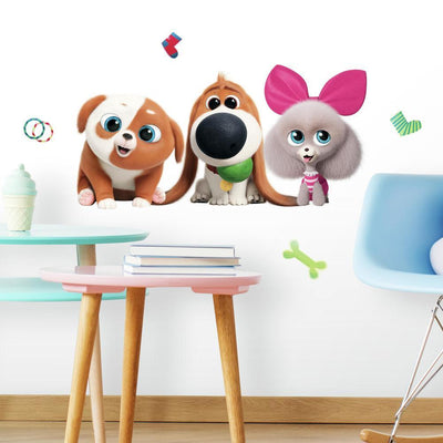 Secret Life of Pets 2 Peel and Stick Giant Wall Decals roomset