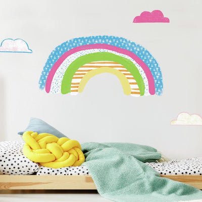 Pattern Rainbow Peel and Stick Giant Wall Decals roomset