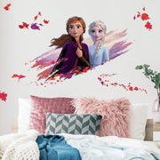 Disney Frozen 2 Anna and Elsa Giant Wall Decals roomset