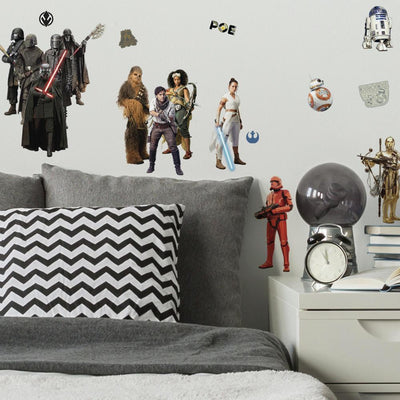 Star Wars: The Rise of Skywalker Peel and Stick Wall Decals roomset