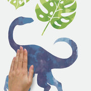 Watercolor Dinosaur Peel and Stick Wall Decals apply