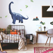 Brachiosaurus Dino Peel and Stick Giant Wall Decals roomst 2