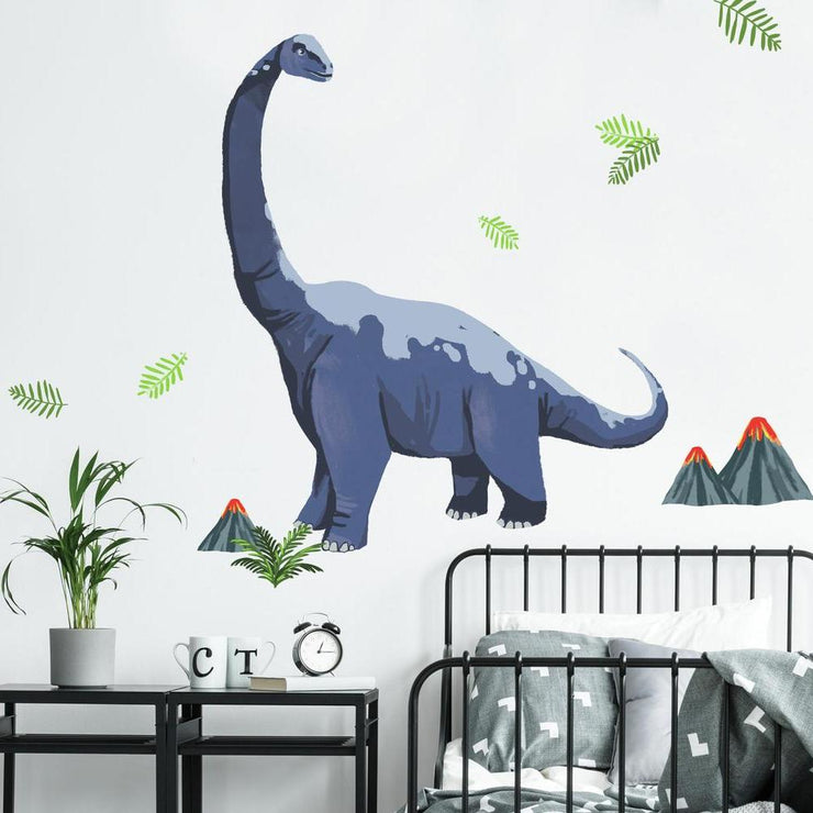 Brachiosaurus Dino Peel and Stick Giant Wall Decals roomset