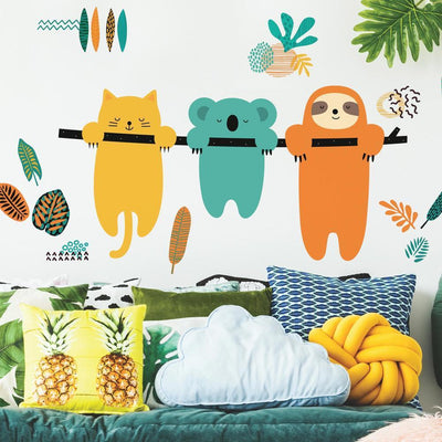 Koala and Sloth Peel and Stick Giant Wall Decals by Andy Westface roomset