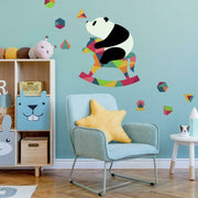 Andy Westface Panda Nursery Peel and Stick Giant Wall Decals roomset