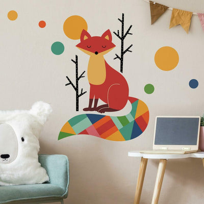 Andy Westface Rainbow Fox Peel and Stick Giant Wall Decals roomset