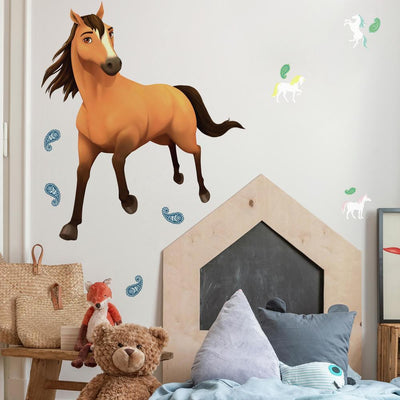 Spirit Riding Free Peel and Stick Giant Wall Decals roomset