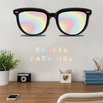 Holographic Sunglasses Giant Wall Decal roomset