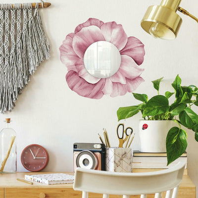 Floral Mirror Wall Decals roomset
