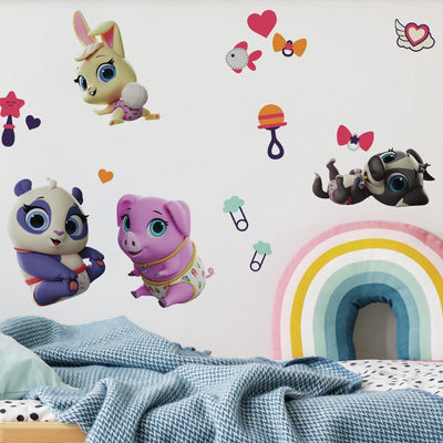 Disney Junior T.O.T.S. Peel and Stick Wall Decals roomset
