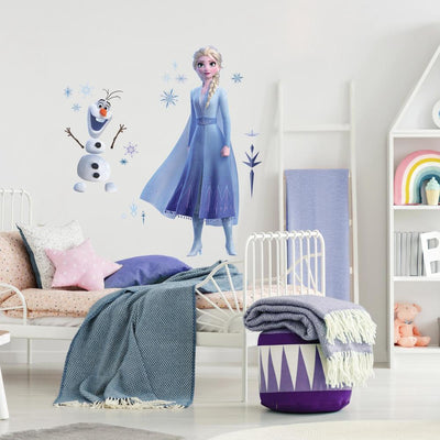 Disney Frozen 2 Elsa and Olaf Giant Wall Decals roomset