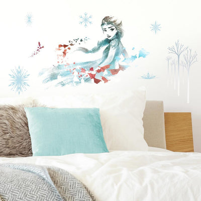 Disney Frozen 2 Watercolor Elsa Giant Wall Decals roomset
