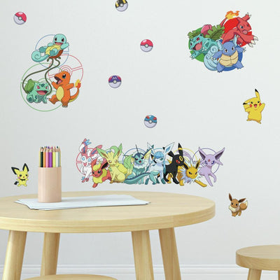 Pokemon Favorite Character Wall Decals roomset